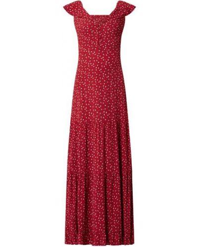 Sukienka rozkloszowana z wiskozy z dekoltem w serek Review