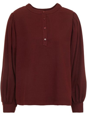 Czerwona bluzka bawełniana zapinane na guziki American Vintage