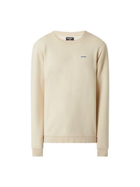 Prążkowana beżowa bluza bawełniana Raizzed