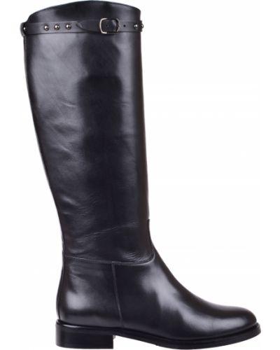 Кожаные сапоги - черные Pertini