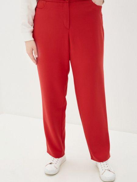 Красные брюки с воротником Ulla Popken