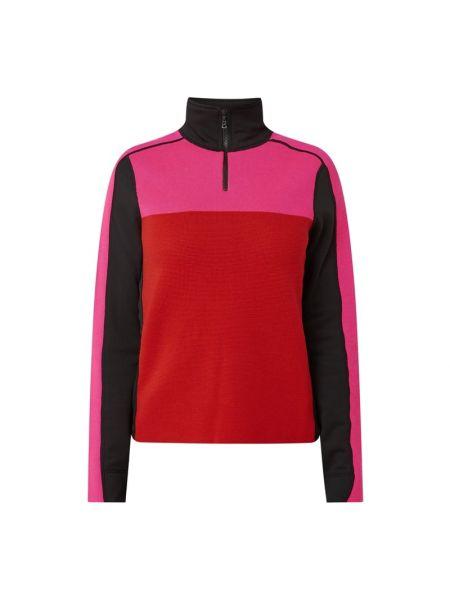 Czarna bluza wełniana z raglanowymi rękawami Bogner Fire + Ice