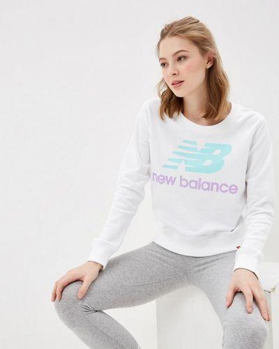 Белая толстовка New Balance