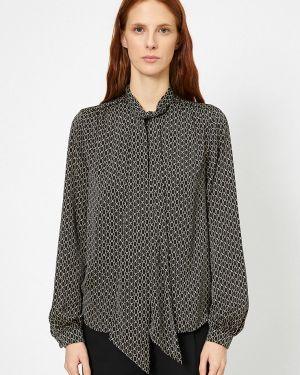 Блузка с длинным рукавом черная Koton