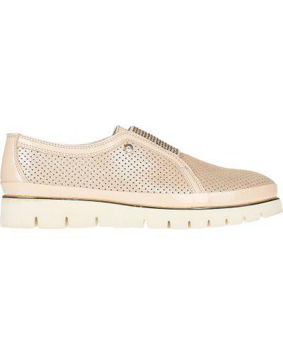 Кожаные туфли - бежевые Lab-milano