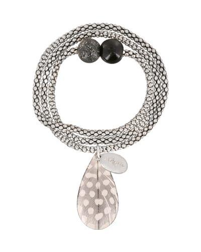 Браслет с камнями - серый Nature Bijoux
