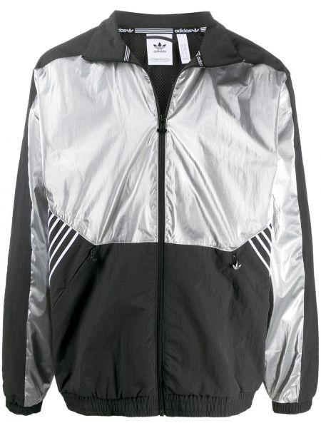 Baza bawełna czarny wiatrówka z długimi rękawami Adidas