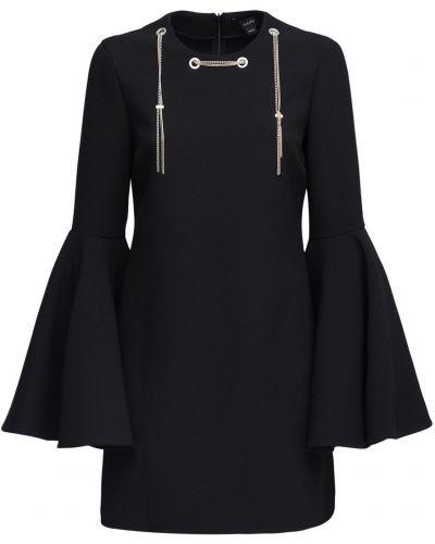 Czarna sukienka mini rozkloszowana Ellery