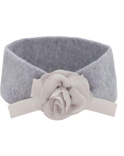 Wełniany srebro opaska na głowę elastyczny La Perla