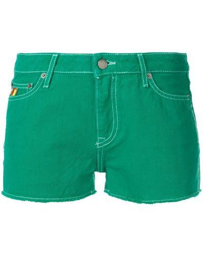 Джинсовые шорты с карманами со стразами на пуговицах Mira Mikati