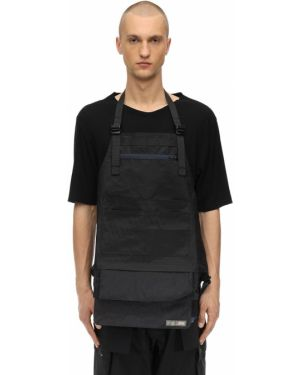 Czarna kurtka z paskiem z nylonu Guerrilla Group