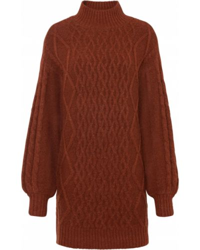 Вязаное платье - коричневое Bonprix