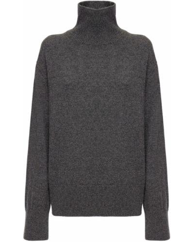 Кашемировый серый свитер с воротником с манжетами Ag