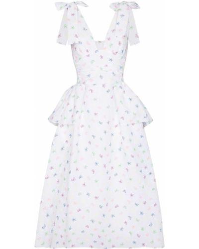 Хлопковое платье миди - белое Rosie Assoulin