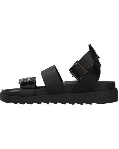 Czarne sandały Apepazza