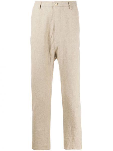 Прямые прямые брюки на пуговицах с карманами новогодние Poème Bohémien