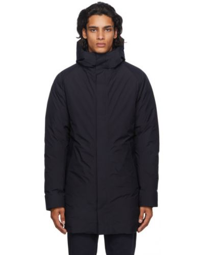 Puchaty z rękawami długi płaszcz z kieszeniami z mankietami Norse Projects