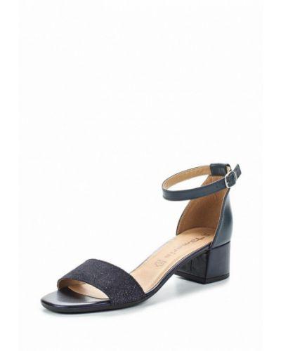 Синие босоножки на каблуке Tamaris