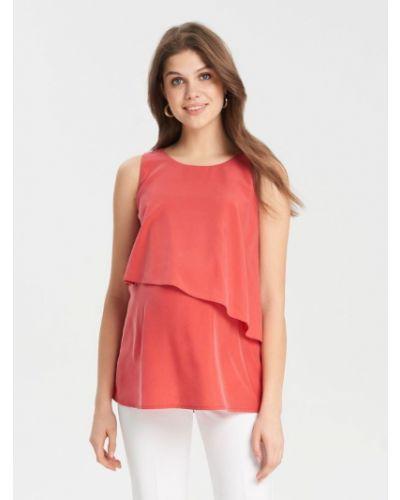Блуза из вискозы красная буду мамой