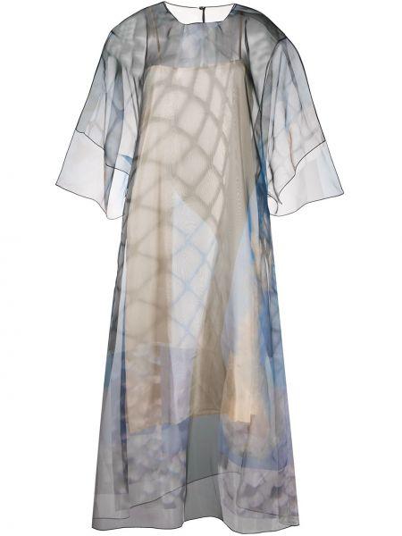 Платье миди с узором прозрачное Maison Margiela
