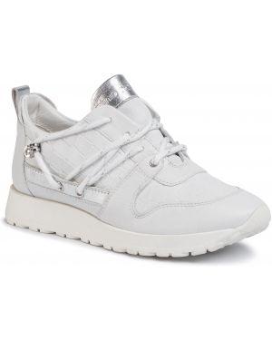 Buty sportowe skorzane - białe Gino Rossi