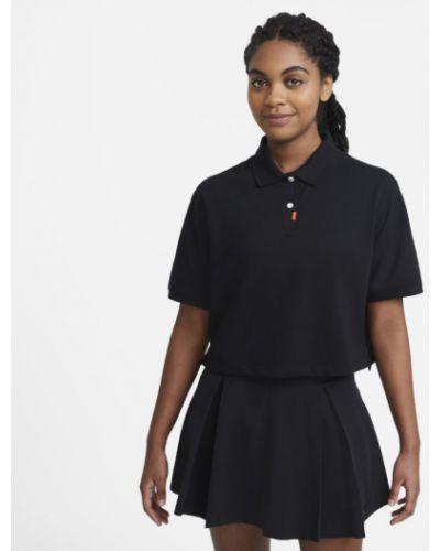 Pomarańczowy t-shirt na co dzień dzianinowy Nike