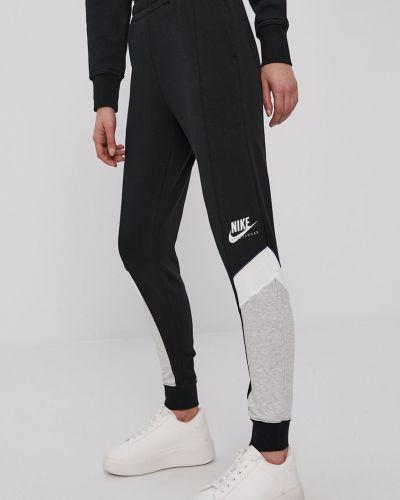 Czarne spodnie dzianinowe Nike Sportswear