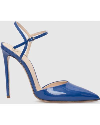 Кожаные босоножки - синие Babe Pay Pls