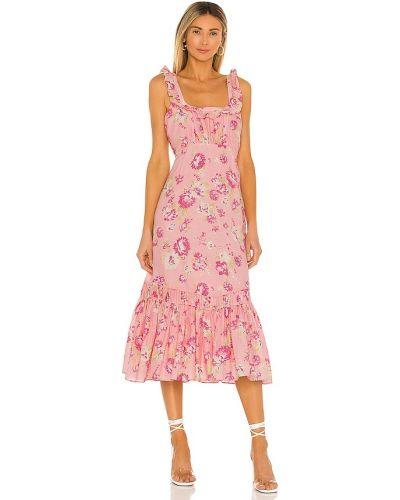 Шелковое платье - розовое Loveshackfancy
