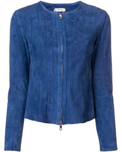 Приталенный синий удлиненный пиджак Desa 1972