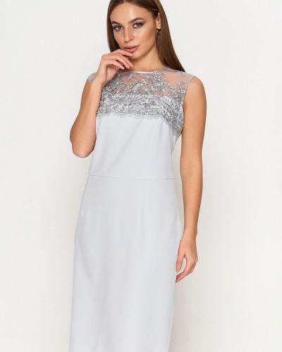 Вечернее платье осеннее серое Sellin