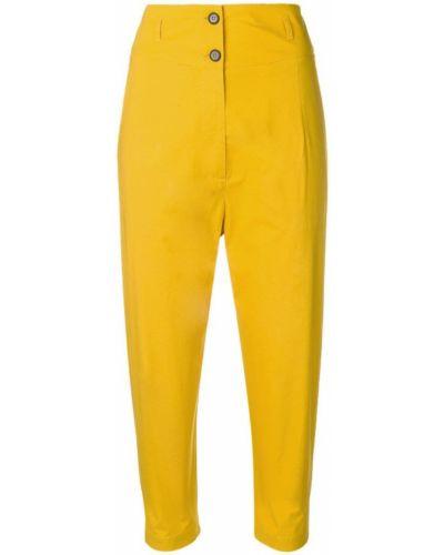 Зауженные желтые брюки с поясом Phisique Du Role