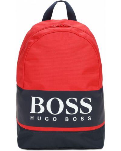 Plecak z nylonu z printem Hugo Boss