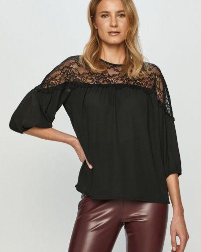 Czarna bluzka koronkowa na co dzień Jacqueline De Yong