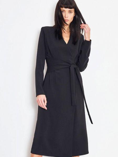 Платье с запахом черное Lime