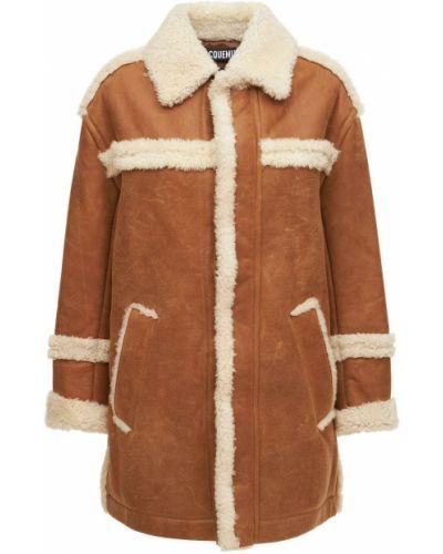 Płaszcz skórzany - biały Jacquemus