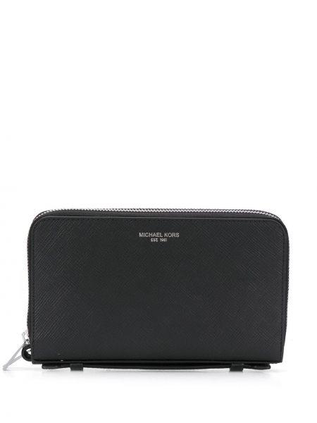Кожаный кошелек - черный Michael Kors