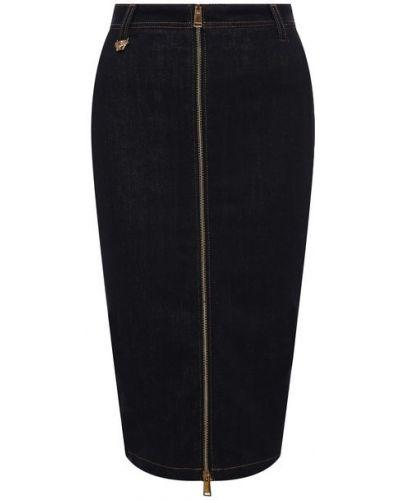 Синяя джинсовая юбка Versace
