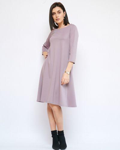 Повседневное платье свободного кроя с вырезом из вискозы Fiato