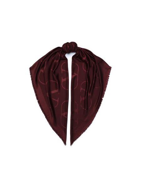 Красная шелковая шаль Valentino