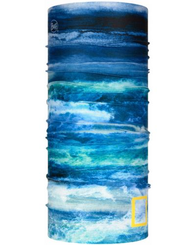 Niebieski szalik materiałowy bezszwowy Buff