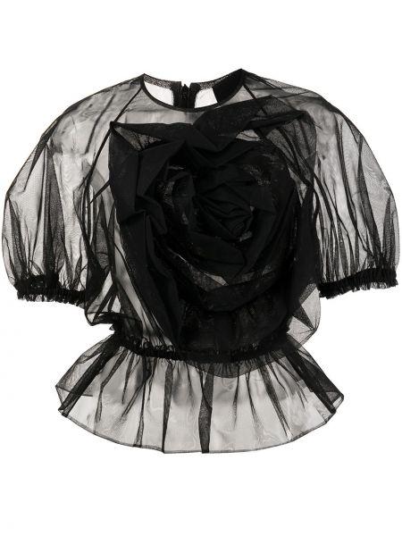 Черная блузка короткая Simone Rocha
