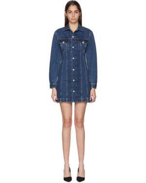 Джинсовое платье платье-рубашка с карманами Helmut Lang