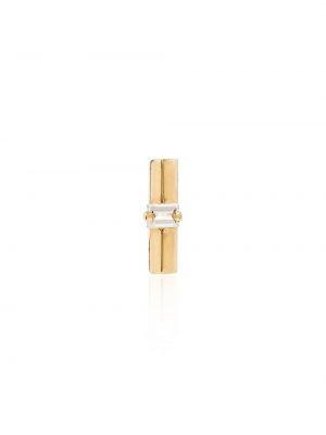 Золотистые желтые золотые серьги с бриллиантом Lizzie Mandler Fine Jewelry