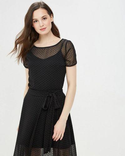 Блузка с коротким рукавом черная весенний Argent