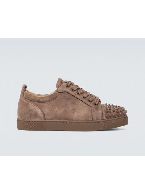 Klasyczne sneakersy skorzane sznurowane Christian Louboutin
