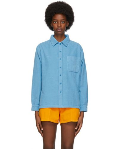 Niebieska koszula bawełniana z haftem Erl