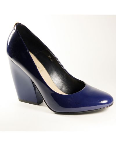 Кожаные туфли - синие Sala