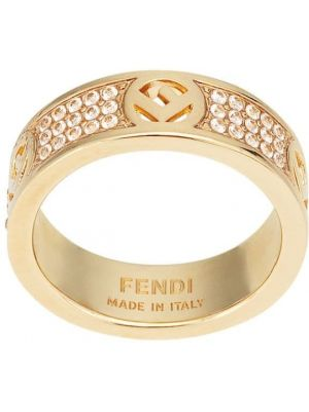 Pierścień z ozdobnym wykończeniem szary Fendi