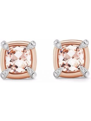 Różowe kolczyki srebrne David Yurman